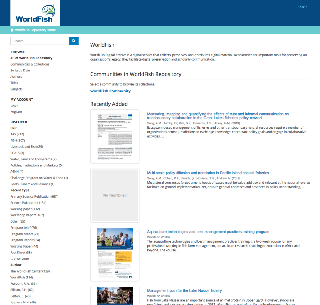WorldFish Digital Archive